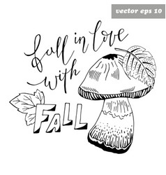 fall in love vector image vector image