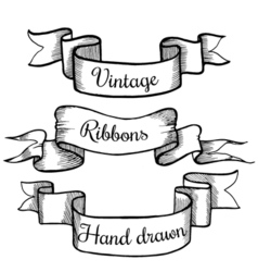 Old hand drawn banner to scrapbook or design in vector