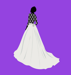 beautiful young girl in a wedding dress vector image