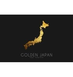 Japan map Japan logo Creative Japan logo design vector image vector image