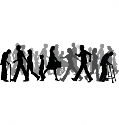 people walking vector image vector image