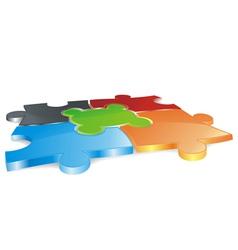 puzzle field vector image vector image