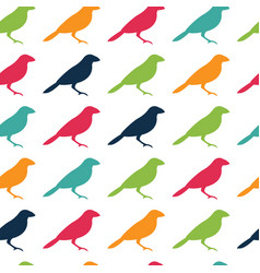seamless pattern texture with birds vector image