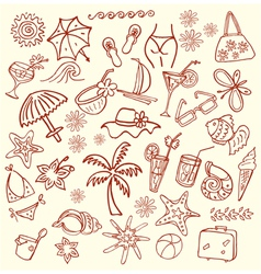 summer sketches vector image vector image