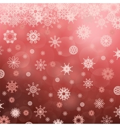 Winter snowflake red pattern vector