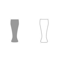 beer glass it is black icon vector image vector image