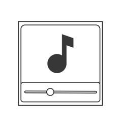 music note in player icon vector image vector image