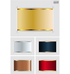 set of metallic labels vector image vector image