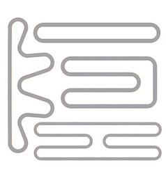 Simple race track shape set vector