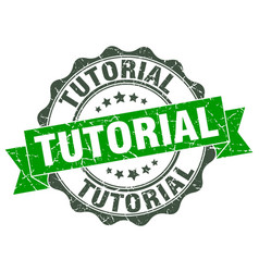 tutorial stamp sign seal vector image