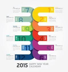 2015 Calendar 2015 Happy new year Calendar vector image vector image