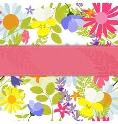 Abstract natural spring background with flowers vector