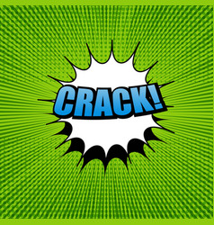 comic crack wording template vector image vector image