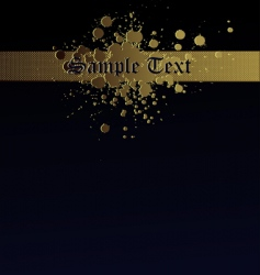 gold splash navy text background vector image