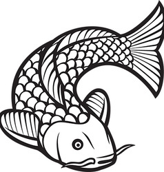 Koi Fish Icon vector image