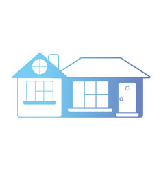 line house with door and window and roof vector image vector image