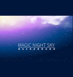 magic cloud light blue burst and star vector image vector image