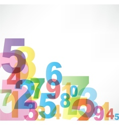 Numbers Background vector image vector image