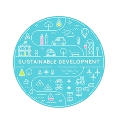 Sustainable Development and Sustainable Living vector image vector image