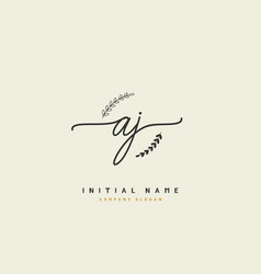 A j aj beauty initial logo handwriting logo vector