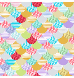 Abstract colorfull wave seamless pattern the vector