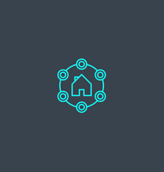 Amenities concept blue line icon simple thin vector