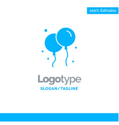 balloon fly ireland blue solid logo template vector image