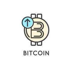 Bitcoin technology modern icon vector