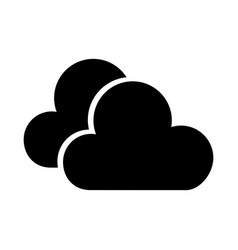 black icon cloud cartoon vector image