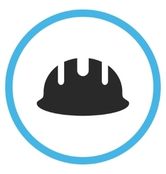 Builder Hardhat Flat Icon vector