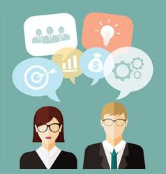 Business people idea vector