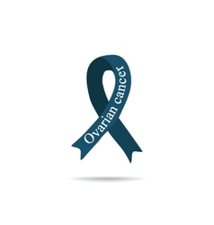 Cancer Ribbon Ovarian cancer International Day vector image