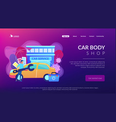 Car tuning concept landing page vector