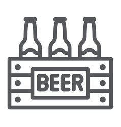 case beer line icon alcohol and drink pack of vector image