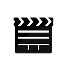 Clapboard film movie cinema icon graphic vector
