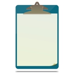 Clipboard with blank paper sheet vector image