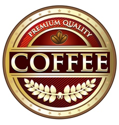Coffee Premium Quality Red Label vector