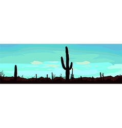 Desert background vector