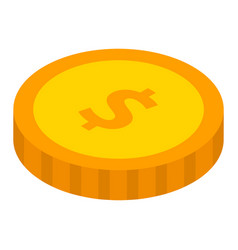 dollar coin icon isometric style vector image