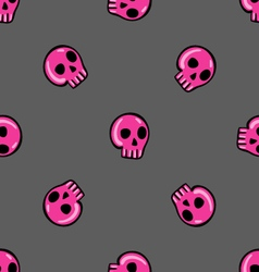 Doodle seamless pattern with skull - 3 vector image
