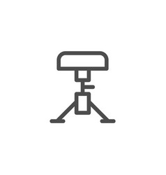 Drum stool line icon vector