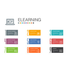 Elearning infographic 10 option line concept vector