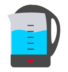 electric kettle with boiling water appliances vector image