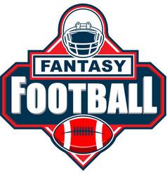 Fantasy american football logo vector