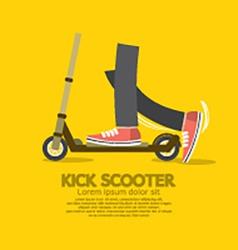 Flat Design Kick Scooter vector image