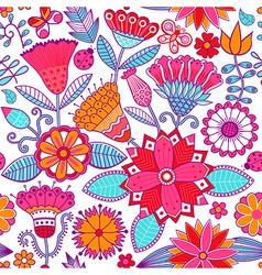 Floral doodle floral texture Copy that square to vector