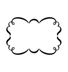 Flourish vintage frame swirl vector