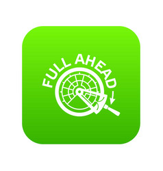 Full ahead icon green vector