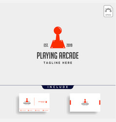 Game old controller logo template icon element vector