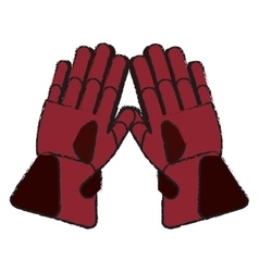 Glove of winter cloth design vector